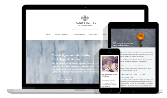 Website Design for Naturopathic Doctor in California